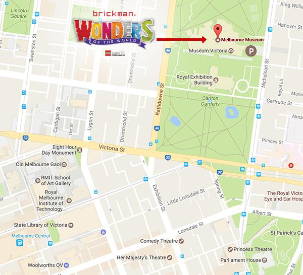 Melbourne Museum Map