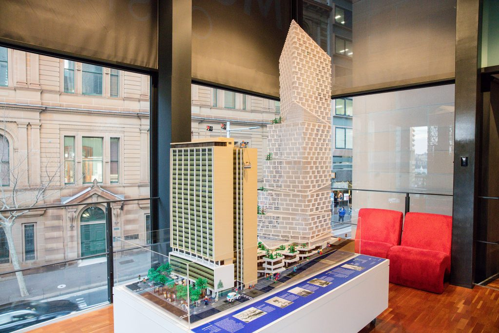 AMP Lego at the Museum of Sydney Picture James Horan