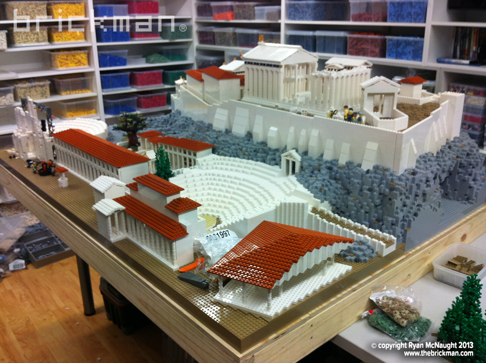 LEGO Parthenon and Acropolis