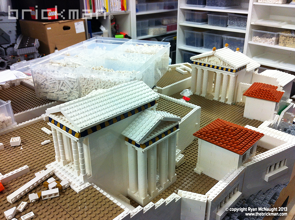 Lego Acropolis under construction