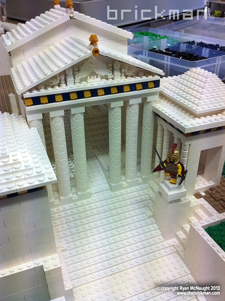 LEGO Acropolis entrance stairs