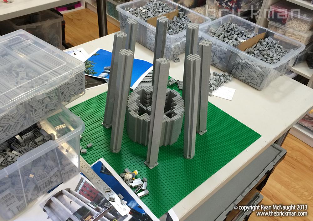 LEGO Auckland Skytower WIP2