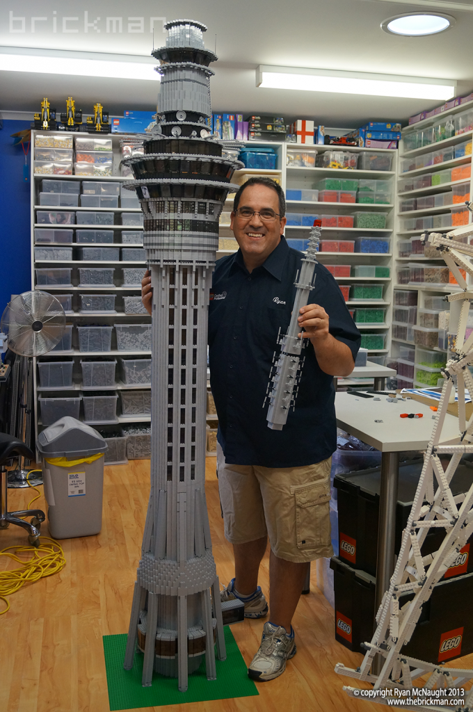 LEGO Auckland Skytower complete