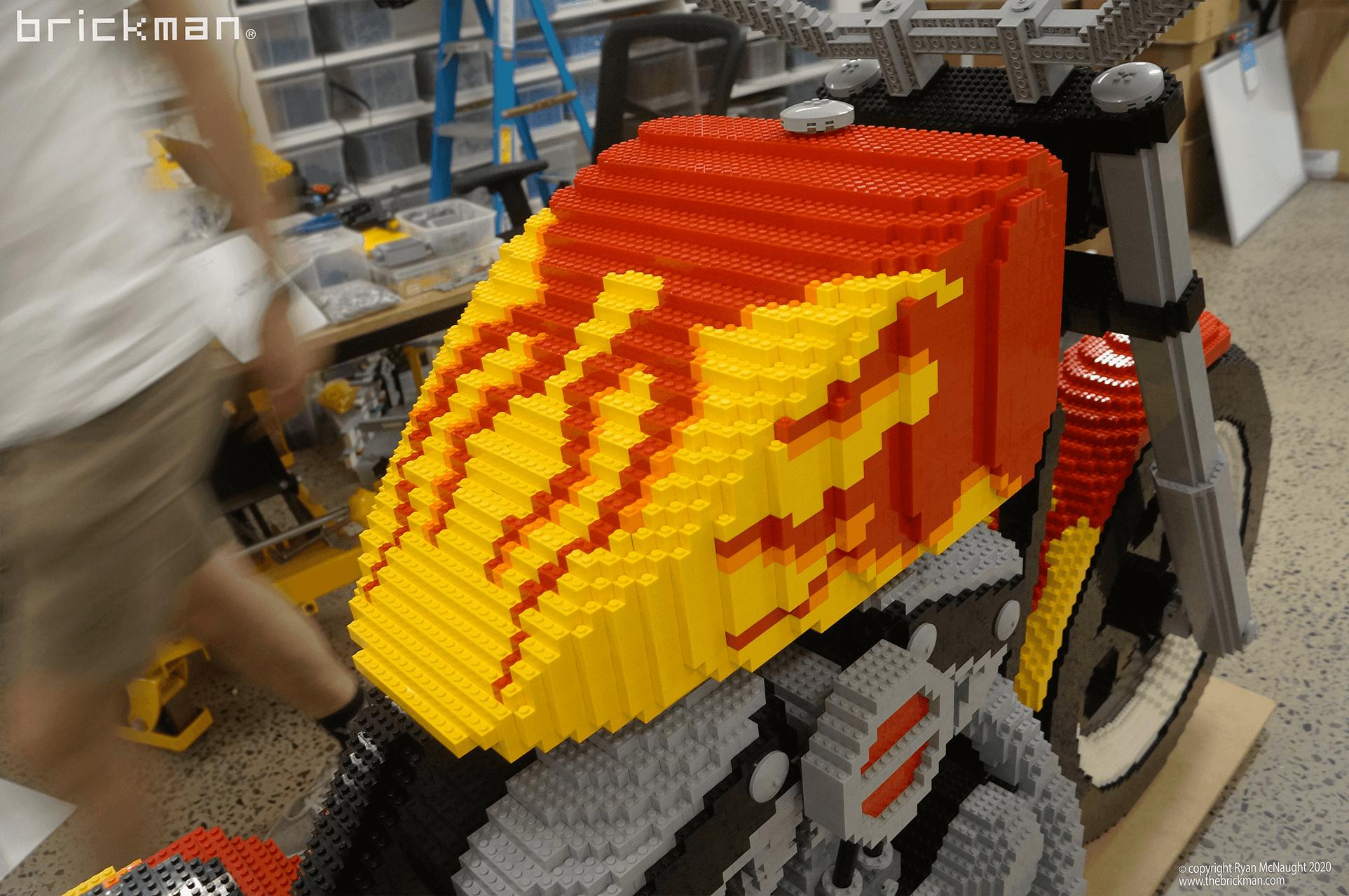 Smash and grab bike flames