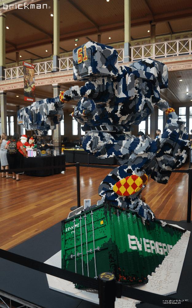 LEGO Brick Timberwolf at Brickvention back