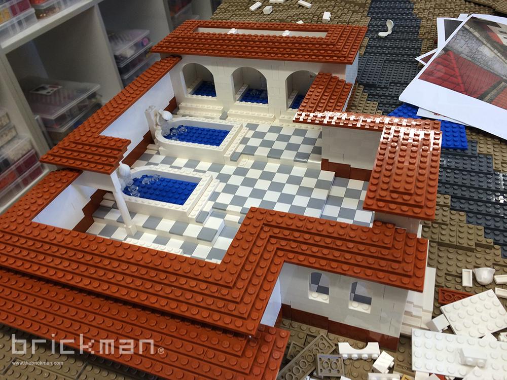 LEGO Pompeii baths