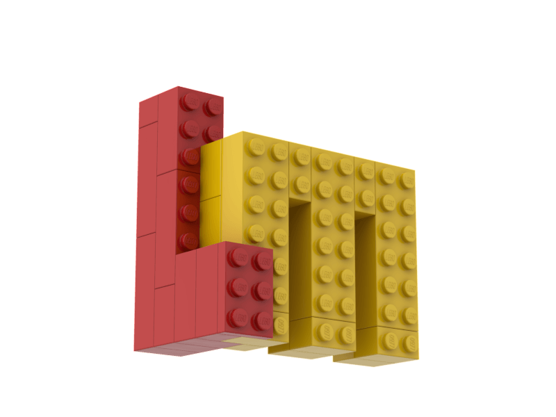 Build your own Lego Masters Logo simple