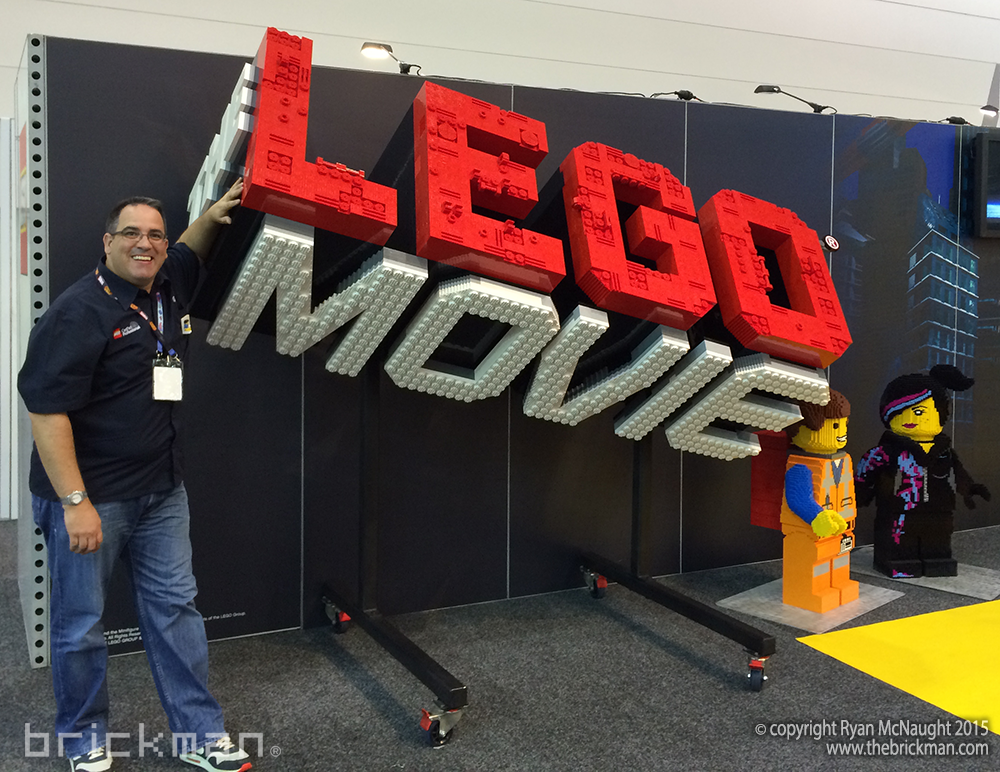 LEGO Movie sign on yellow carpet