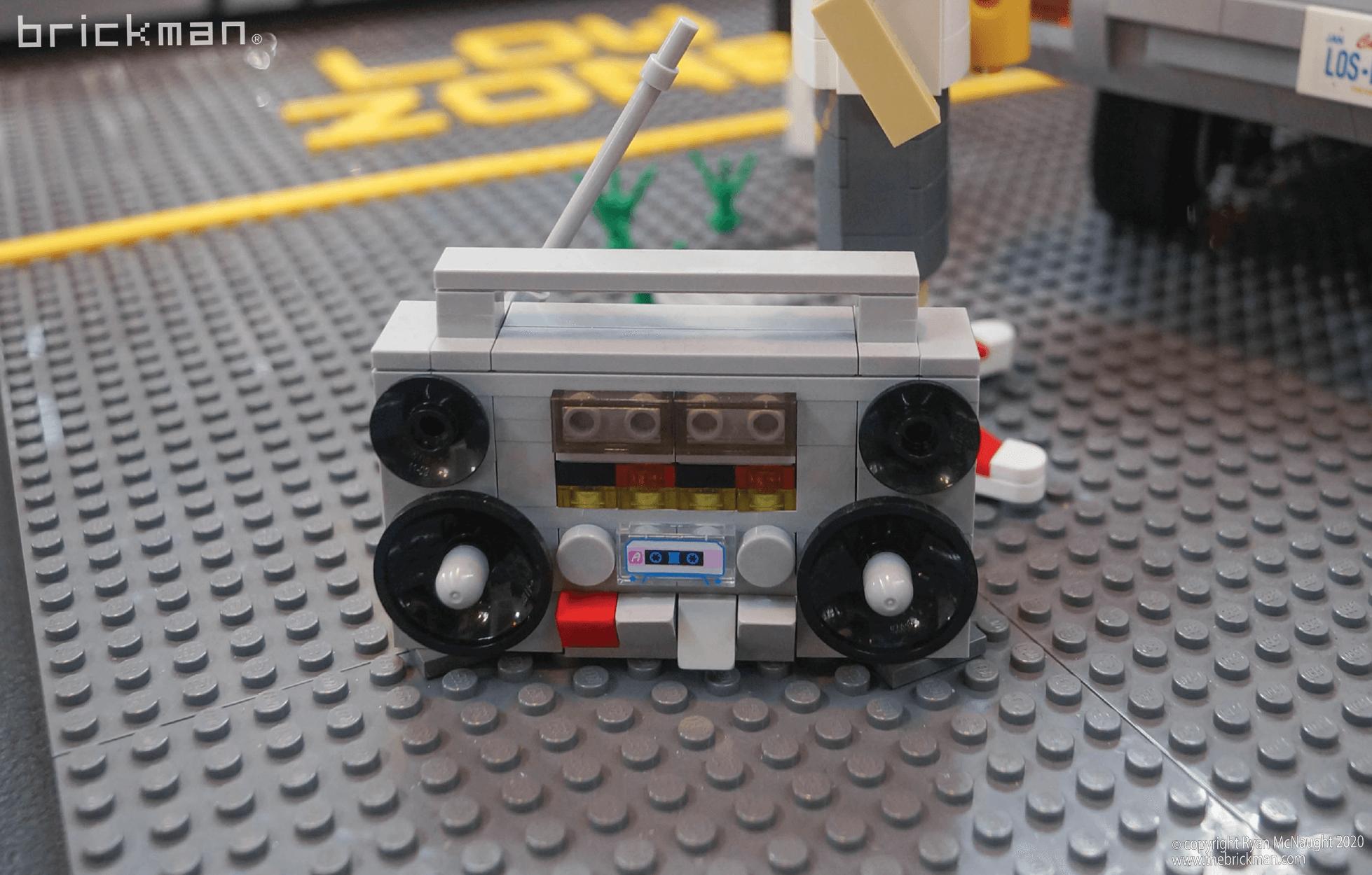 Los Brickos LEGO brick Lowrider boom box