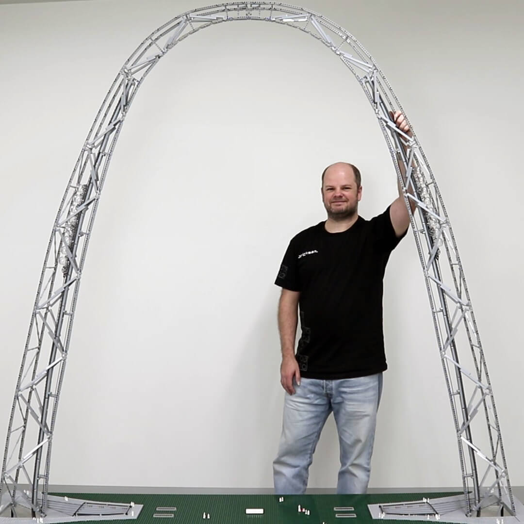 Stephan with his LEGO Technic Gateway Arch