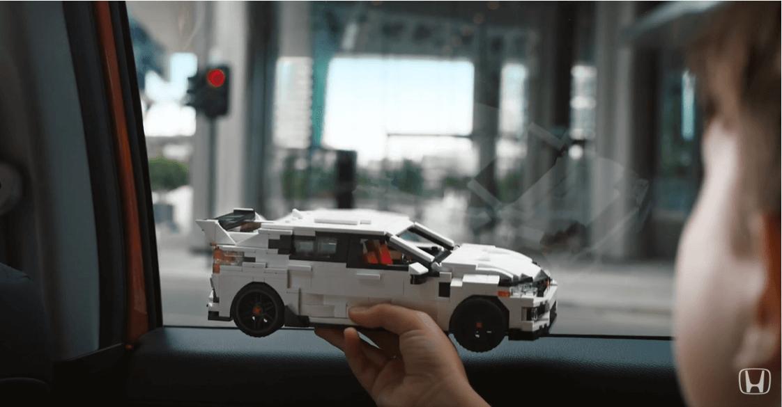 LEGO Honda Civic Type R advert
