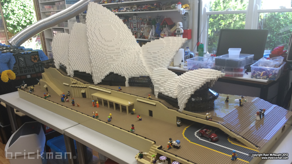 LEGO Sydney Opera House in Ryans old workshop