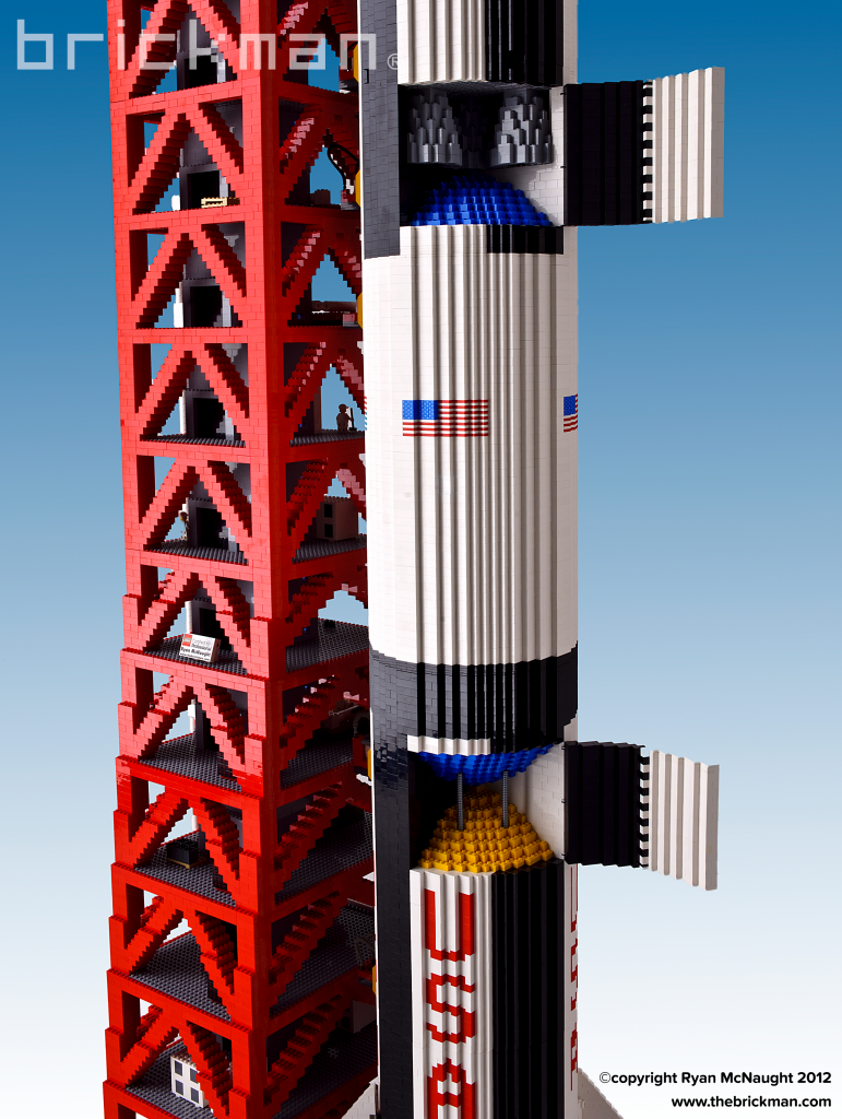 LEGO Saturn V Rocket with open Panels
