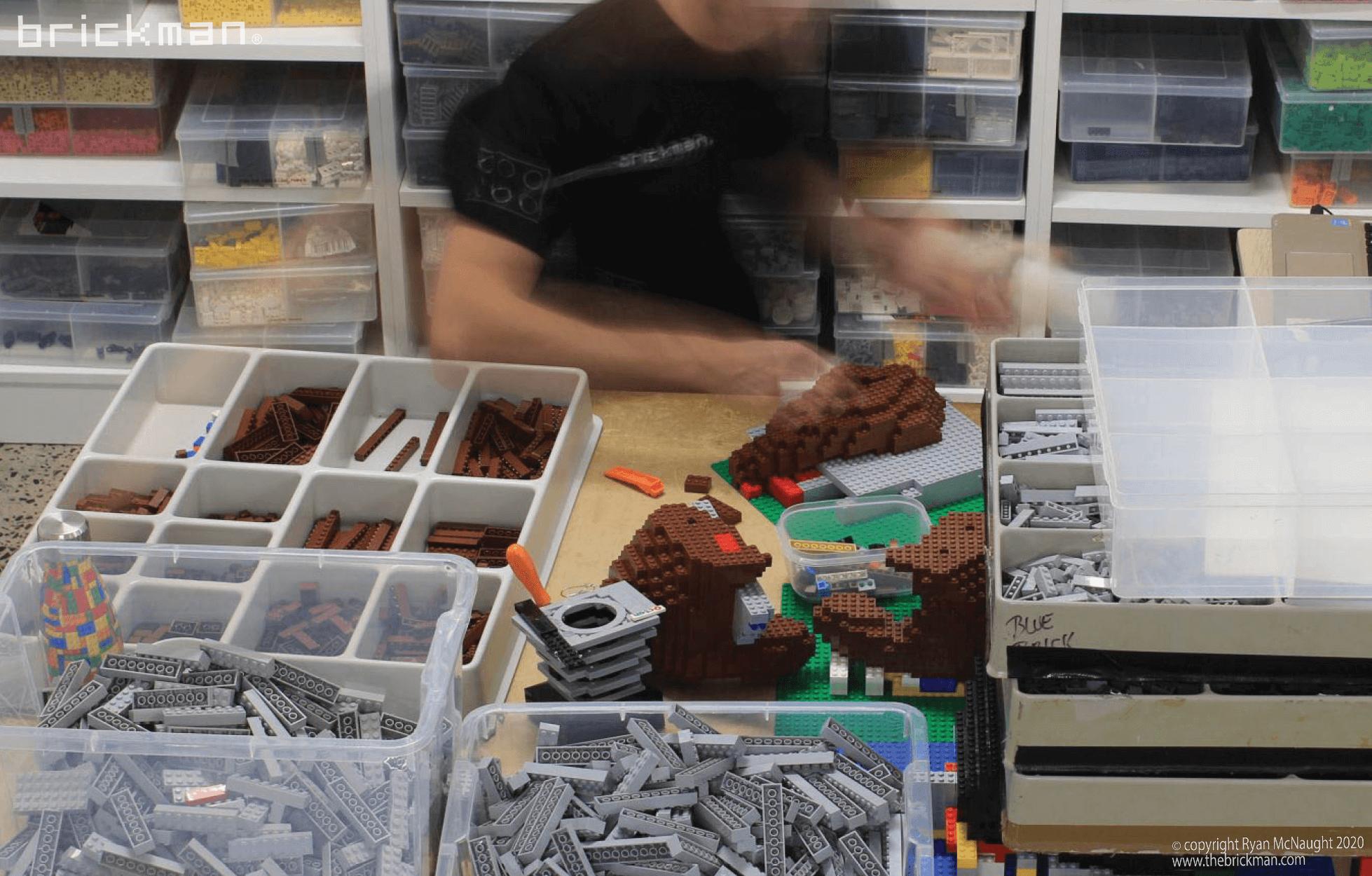 LEGO brick Taz Devil WIP 01