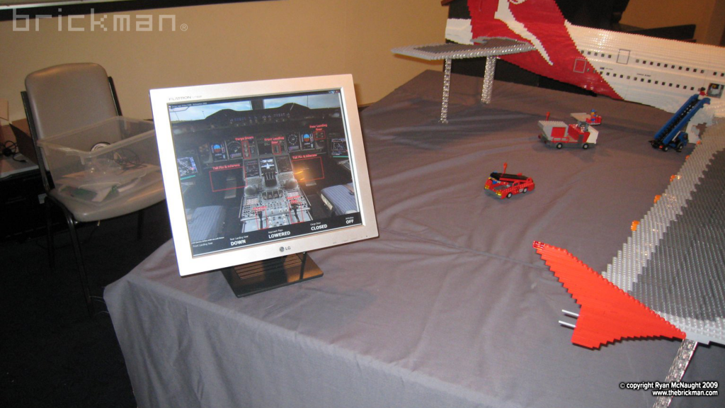 LEGO A380 interactive iPad controls