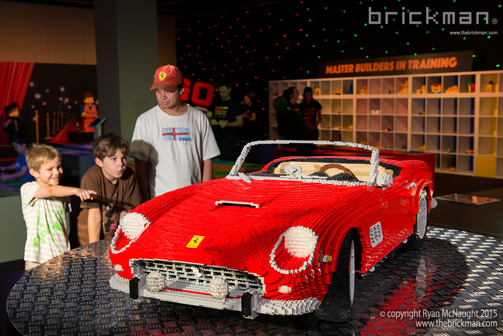 LEGO Ferrari display 2