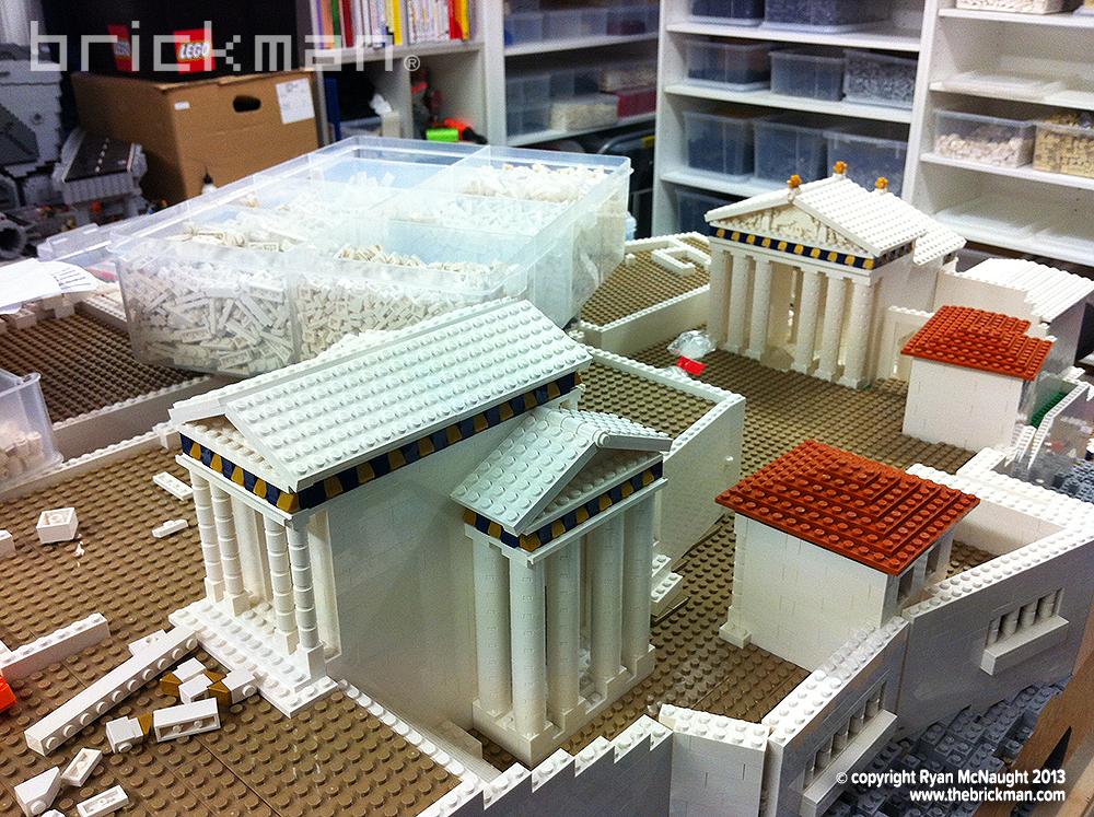 Lego Acropolis under construction