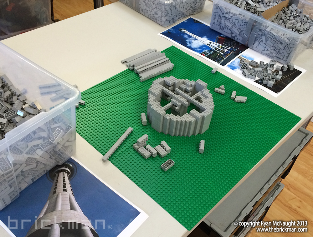 LEGO Auckland Skytower WIP 1
