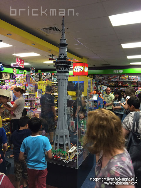 LEGO Auckland Skytower at Toyco St Lukes