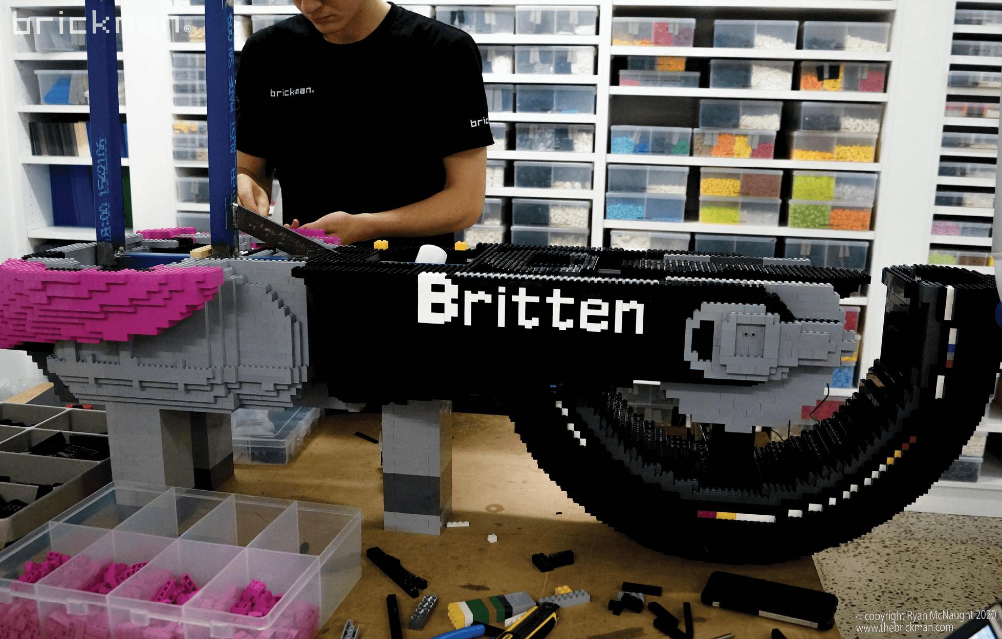 LEGO Britten Bike WIP 1