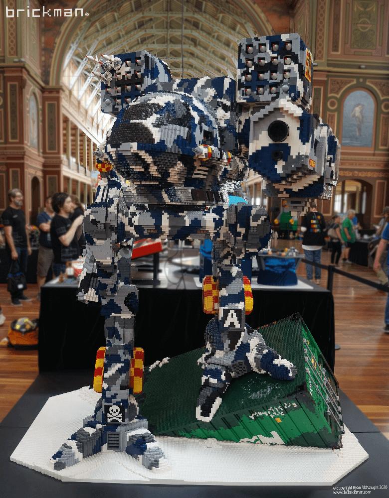 LEGO Brick Timberwolf at Brickvention front