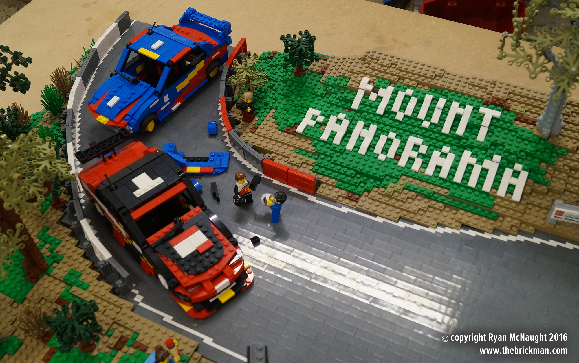 Mount Panorama in LEGO Bricks