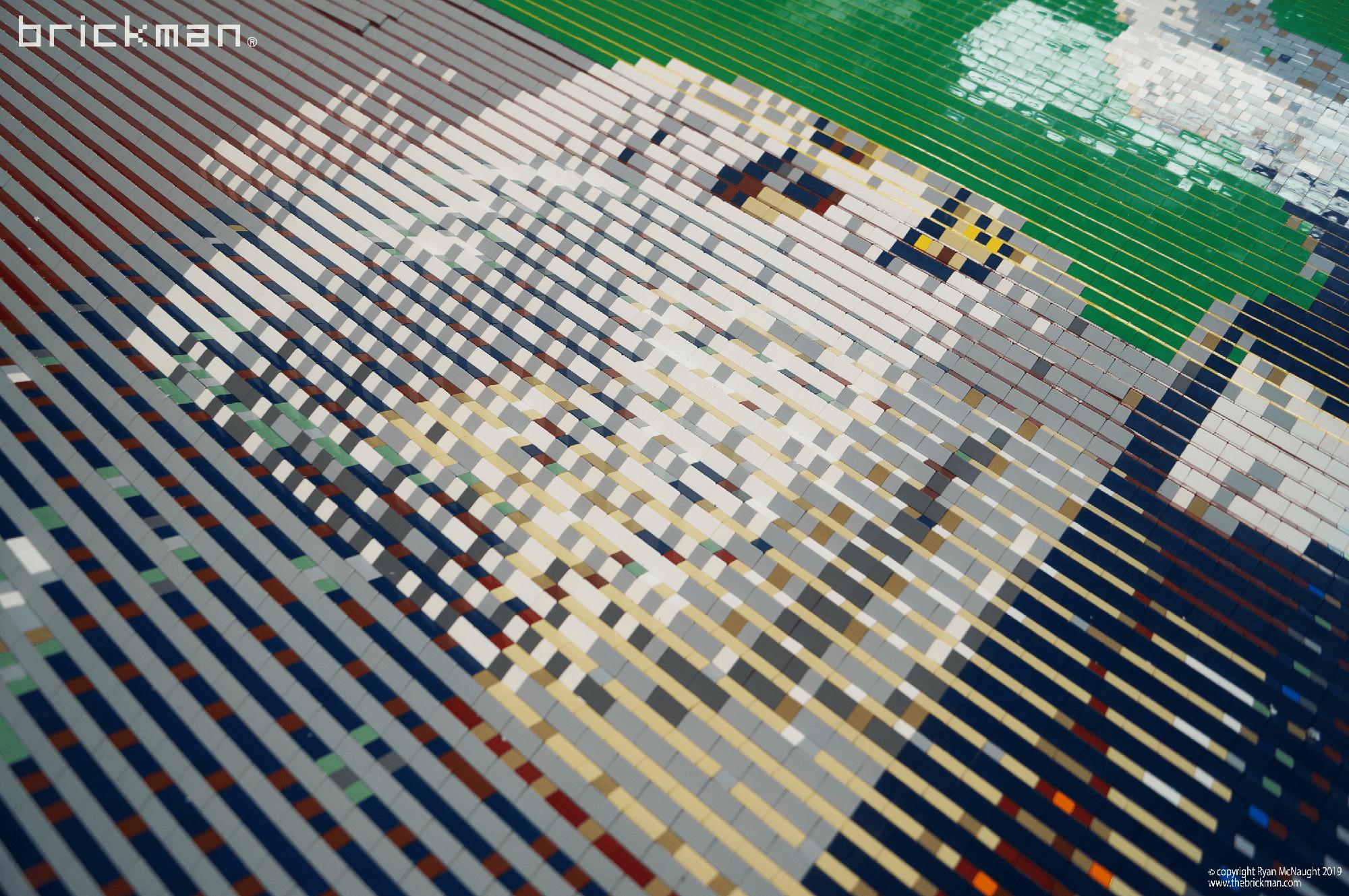 Harry Potter Lenticular LEGO Mosaic Voldemort closeup