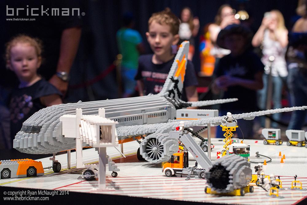 Star Wars Jetstar 787 on display