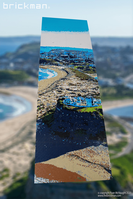LEGO brick mosaic Nobby Lighthouse Newcastle
