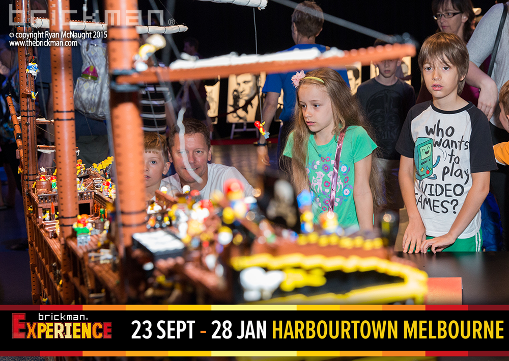 LEGO Pirate ship at Brickman Experience Harbourtown Melbourne