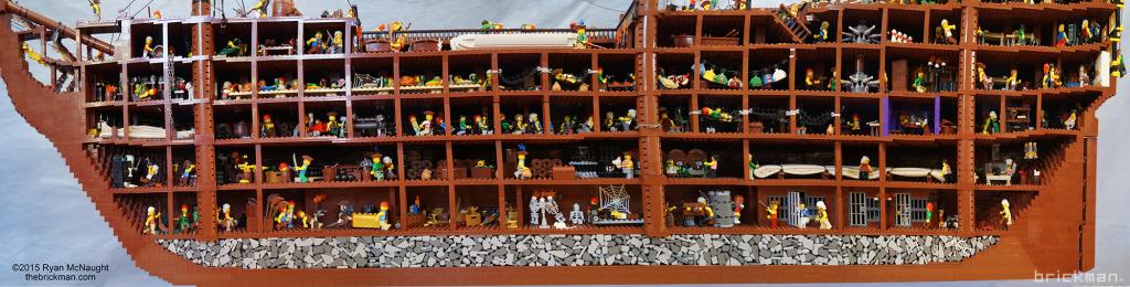 LEGO Pirate Ship cutaway
