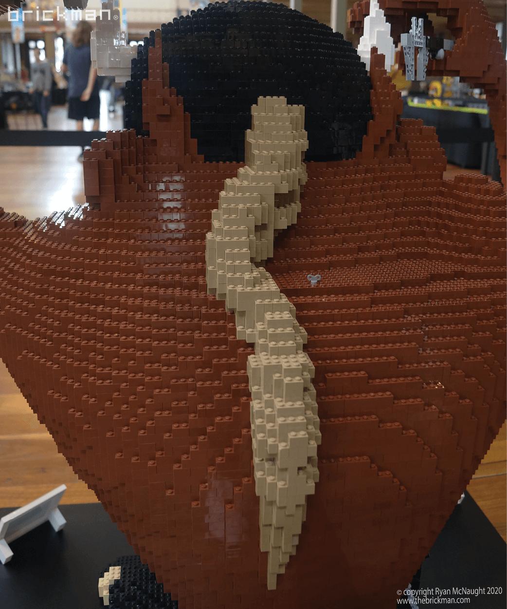 LEGO brick Taz Devil ponytail