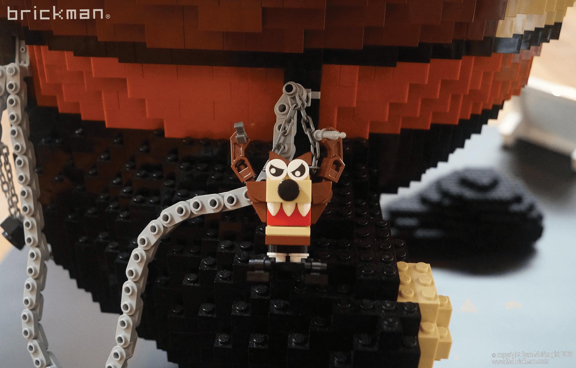 LEGO brick Taz Devil keychain mini Taz