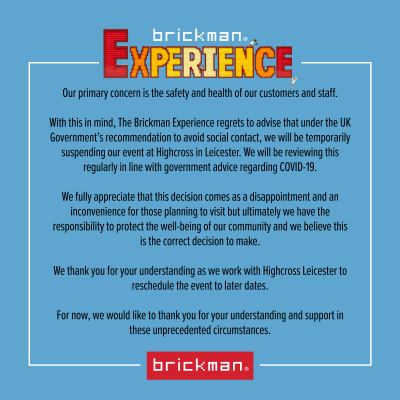 Brickman Experience UK temporarily suspended