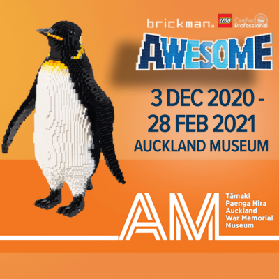 Brickman Awesome is coming to Auckland Museum!