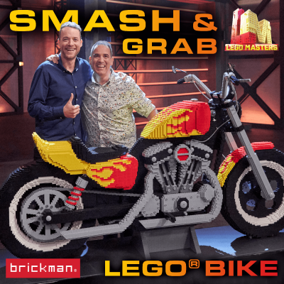 Building LEGO Masters' Smash & Grab Challenge Bike