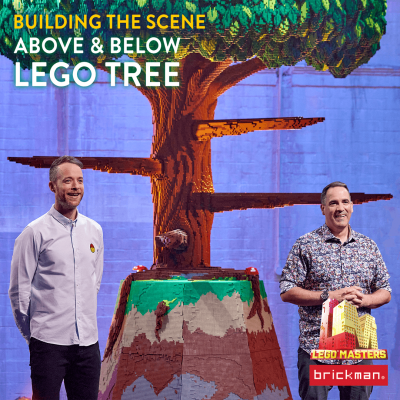 Building the Scene: Above and Below LEGO Tree