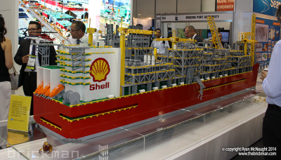 Throwback Thursday LEGO® Brick Shell's Prelude FLNG Facility