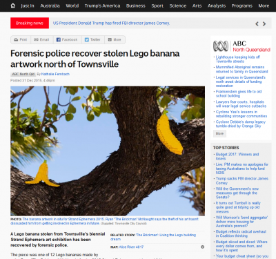 Throwback Thursday: LEGO® brick Banana Heist