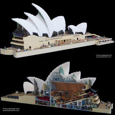 Giant LEGO Sydney Opera House